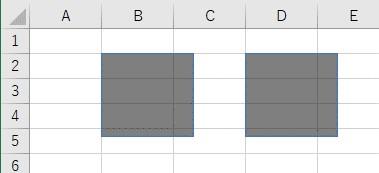 透過率を取得して、別のオートシェイプに設定した結果