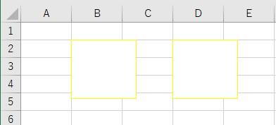 枠線の色を取得して、別のオートシェイプに設定した結果
