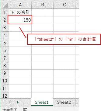Worksheetsを使って「別シート」を参照した結果