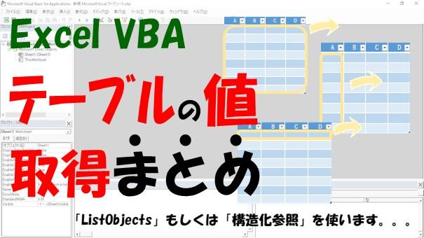 """Excel VBAを使ったテーブル操作での""""構造化参照""""と""""ListObjects""""まとめ"""