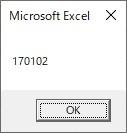 時間をFormatを使って数値6桁に変換した結果