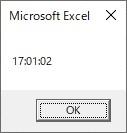 TimeSerialを使って時、分、秒を時間に変換した結果