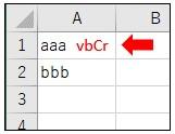 改行毎の値を取得に失敗してvbCrの改行コードが残った結果
