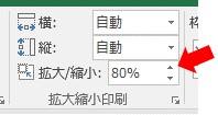 PageSetUp.Zoomを使って、印刷範囲を80%に縮小した結果